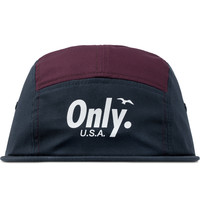 ONLY Navy/Burgundy Shore 5-Panel Cap | HYPEBEAST Store.