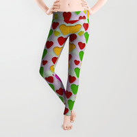 So sweet and hearty as love can be Leggings by Pepita Selles