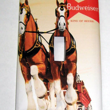 Light Switch Cover - Light Switch Plate Budweiser CLydesdale