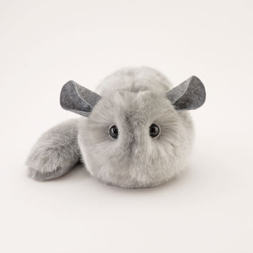Comet the Light Grey Chinchilla Stuffed Animal Plush Toy