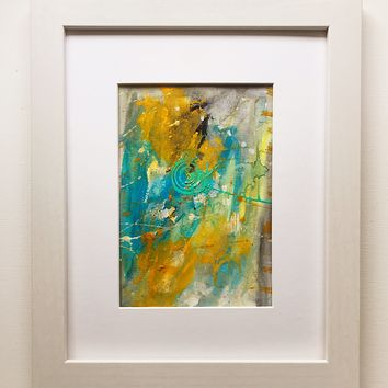 019 Original Abstract  Art on Paper. Free-shipping within USA.