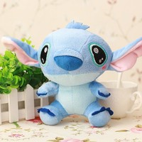 10cm Kawaii Stitch Plush Doll Toys Anime Lilo and Stitch 10cm Stich Plush Toys for Children Kids Birthday Gift