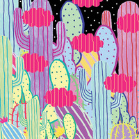 Cactus Party Art Print by Saif Chowdhury