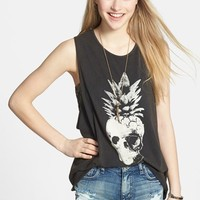 Volcom 'Skulltown' Cotton Muscle Tank (Juniors)