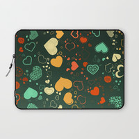Elegant Hearts Laptop Sleeve by kasseggs