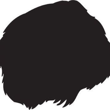 German Longhaired Pointer Silhouette Dog Puppy Breed Long Die Cut Vinyl Transfer Decal Sticker
