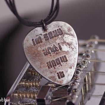 Love quotes, I'm sexy, and I know it, Guitar quotes jewelry - Gifts for boyfriend, son, dad