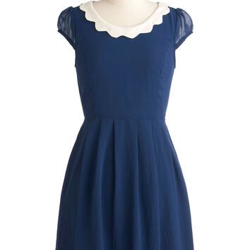 Surprise Me Dress in Blueberry