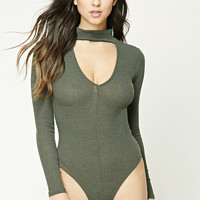 Ribbed Knit Cutout Bodysuit