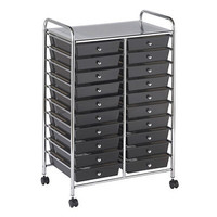 20 Drawer Makeup Cosmetics Office Craft Organizer Cart