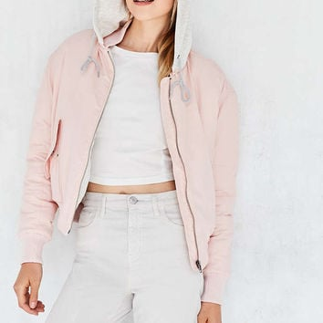 Silence + Noise MA Hooded Bomber Jacket - Urban Outfitters