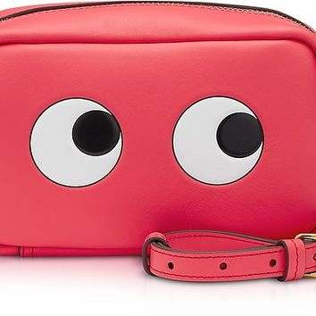 Anya Hindmarch Circus Leather Mini Eyes Cross-Body Bag
