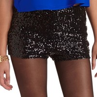 HIGH WAIST SEQUIN SHORT