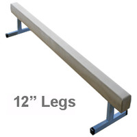 10 ft Suede Gymnastics Balance Beam with Raised Metal Legs