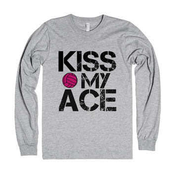 Kiss my ace pink volleyball long sleeve shirt