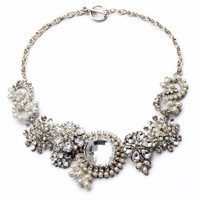 FOREVER 21 Big Crystal Stone Statement Necklace