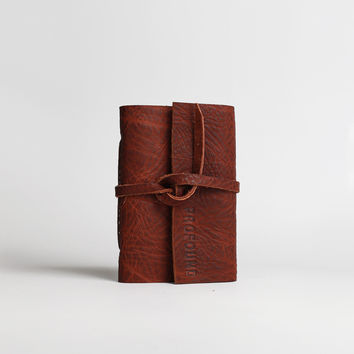 Genuine Leather Raw Journal: Pocket Size