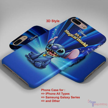 Lilo & Stitch Magical Disney - Personalized iPhone 7 Case, iPhone 6/6S Plus, 5 5S SE, 7S Plus, Samsung Galaxy S5 S6 S7 S8 Case, and Other