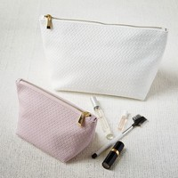 Textured Leather Zipper Cases