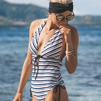Cupshe My Serenade Stripe One-piece Swimsuit