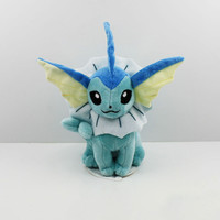 2016 New Pokemon Vaporeon Plush toy figures Toys 20cm Soft Stuffed Anime Cartoon Dolls Gift