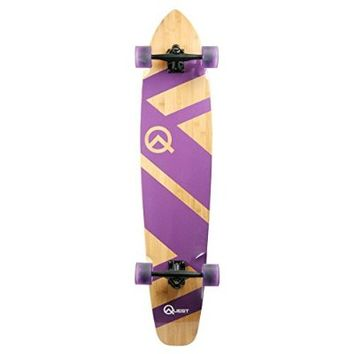 Quest Skateboards Super Cruiser Longboard Skateboard, Purple, 44-Inch