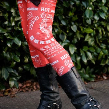 Sriracha Leggings - Sock Dreams - Unique Colorful Socks