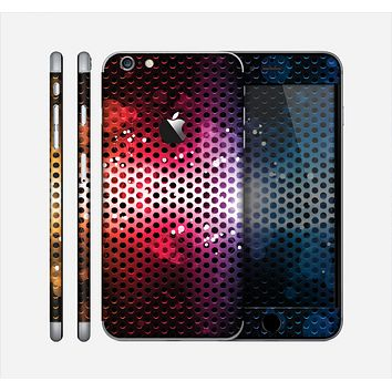 The Neon Glowing Grill Mesh Skin for the Apple iPhone 6 Plus