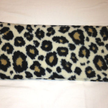 Hot Cold Pack , Herbal Pack , Heat Wrap , Organic ,  Flax Seed, Microwave Therapy, Soft Fleece Cheetah