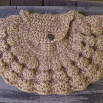 Crochet Jute Clutch Purse