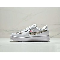 Nike Air Force 1 X GUCCI New Popular Women Personality Letter Flower Print Hook Sport Running Shoe Sneakers I-CSXY