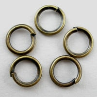 200 Antiqued Bronze Jump Rings 5mm