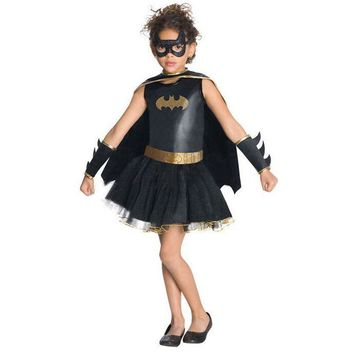 Girls Halloween batman costumes Batgirl fantasia fancy woman dress Kids disguise carnival party Outfit superhero cosplay costume
