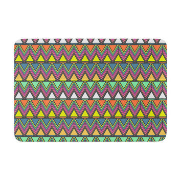"Nandita Singh ""Pattern Play"" Rainbow Chevron Memory Foam Bath Mat"