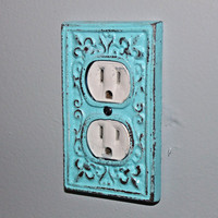Bronze Decorative Electrical Outlet Plate by AquaXpressions