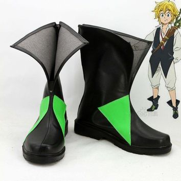 Japan anime The Seven Deadly Sins Cosplay Shoes Meliodas Anime Party Boots Tailor-Made