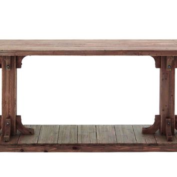 Light Brown Shade Classy Wooden Console Table Brand Benzara-85991