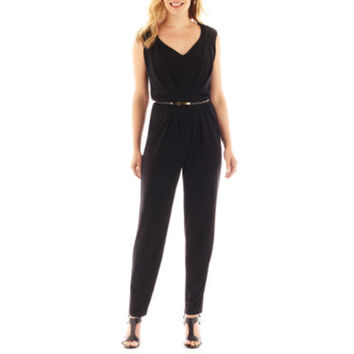 jcpenney | Worthington® Sleeveless Belted Jumpsuit