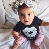 Newborn 2pcs Clothes Suit Baby Boys Girls Toddler Kids T shirt Tops+Pants Outfit-in Clothing Sets from Mother & Kids on Aliexpress.com | Alibaba Group