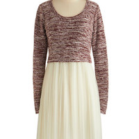 ModCloth Long Long Sleeve A-line Easily the Sweetest Dress