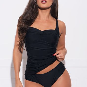 Glass Beach Two Piece Swimsuit - Black