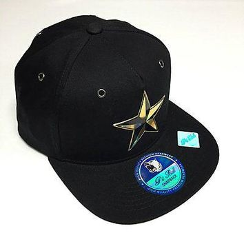 American Cities Dallas Texas Hat Star 3D Embroidered Flat Snapback Cap Black