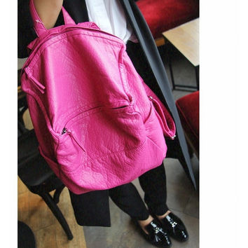 Summer Stylish Rinsed Denim Backpack Multi-functioned Casual Shoulder Bags [6582740487]
