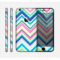 The Vibrant Colored Chevron Pattern V3 Skin for the Apple iPhone 6