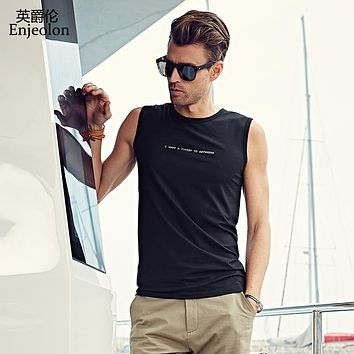 Summer Vest 4 color printing T-shirt Tank Top Men Vest Casual Fashion Fitness Tees Tops o Neck Soft