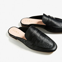 LEATHER MULE LOAFERSDETAILS