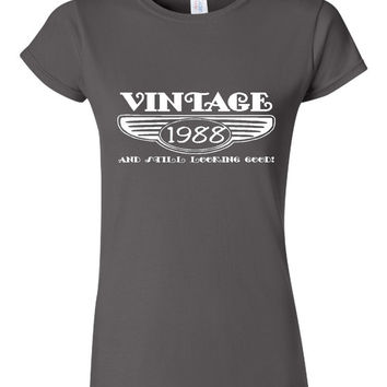 Vintage 1988 And Still Looking Good 27th Bday T Shirt Ladies Men Style Vintage Shirt happy Birthday T Shirt