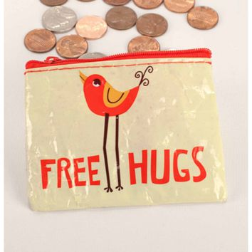 Free Hugs Coin Purse (Also Perfect for Small Makeup Items)