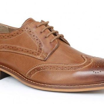 New Giorgio Brutini Men's Redmond Wing Tip Rust Shoes