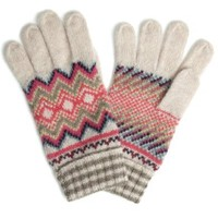 Accessorize Womens Diamond Fairisle Glove One Size Multi